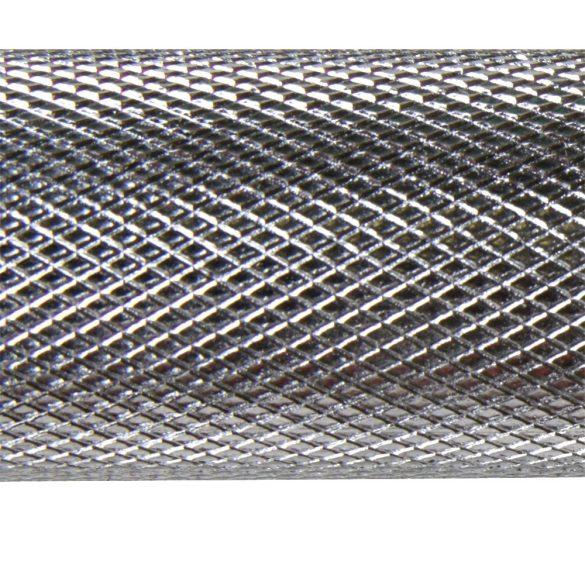 213cm hosszú 30mm átm. menetes szárú súlyzórúd 250Kg terhelhetőséggel, lezárógyűrűkkel,