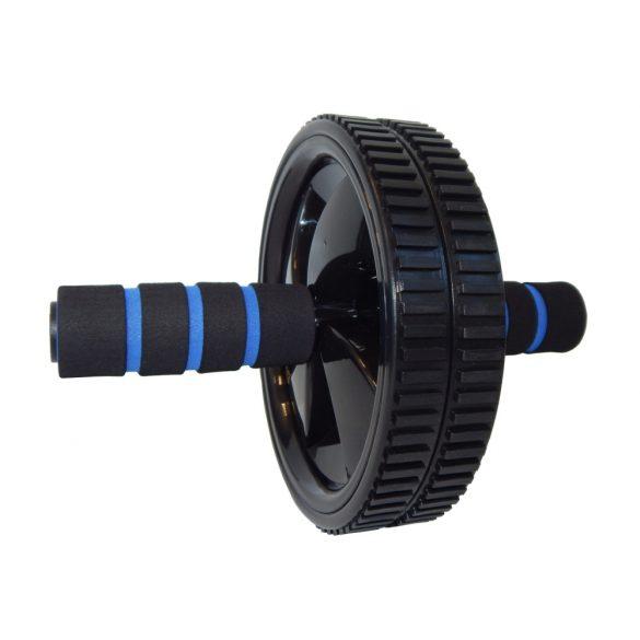 Fitnesz kerék dupla erős PU kerekekkel puha habos markolattal