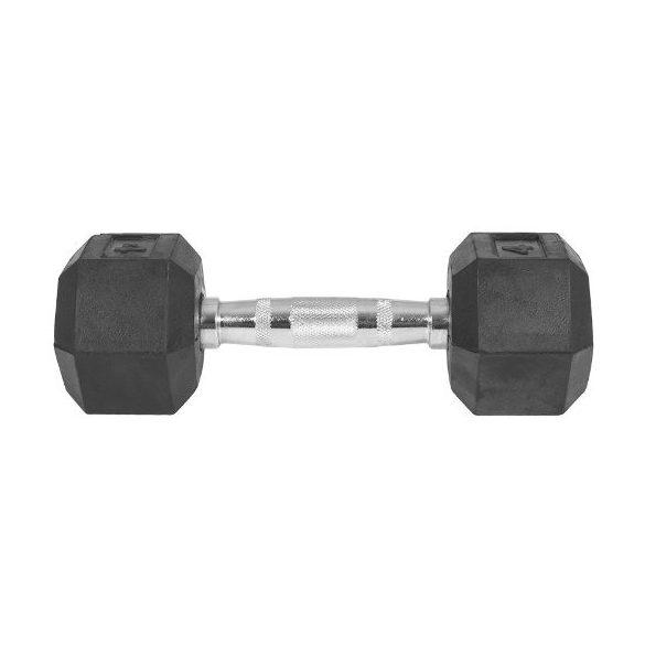 Capetan® Professional Line 10Kg Hex Egykezes edzőtermi gumírozott kézi súlyzó