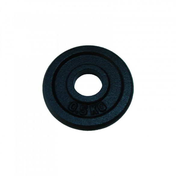 Capetan® 0,5Kg  31mm átm, Acél súlytárcsa fekete selyemfényű festék