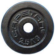 Capetan® 2,5Kg 31mm átm, Acél súlytárcsa fekete selyemfényű festék bevonattal,