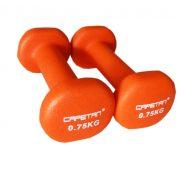 Capetan® Neoprene bevonatú 2x0,75Kg egykezes kézisúlyzó pár - neoprén bevonatú