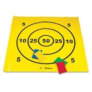 Célzó szőnyeg 12 db babzsákkal, célbadobó játék