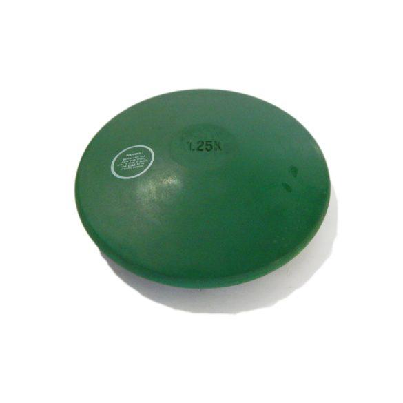 Tactic Sport Gumi tréning diszkosz 1,25kg, színe zöld, nem hagy