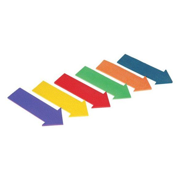 Padlójelölő nyíl formájú szett 6 db-os, gumi, 34x15,8cm