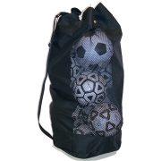 Tactic Sport Labdatartó zsák extra nagy méret, strapabíró kivitel 90x54 cm, 20 labda  vagy edzéssegítő eszközök szállítására tárolására alkalmas hordpántos kivitel