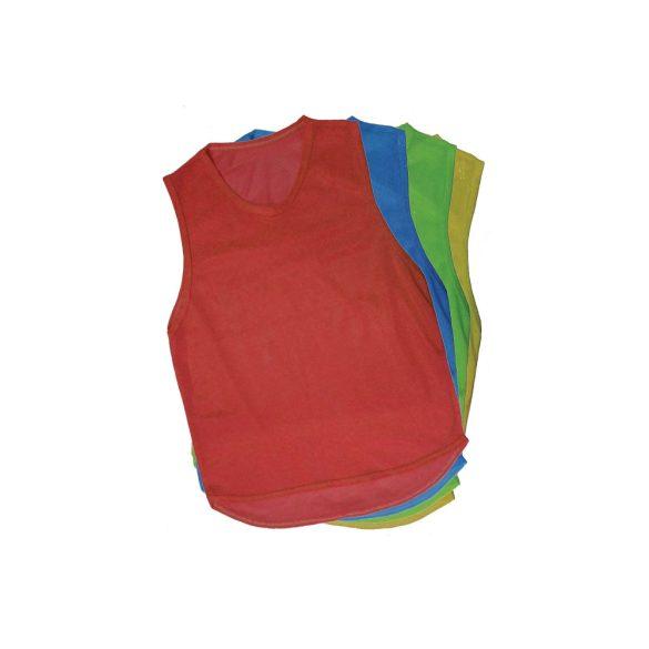 Jelzőtrikó , megkülönböztető trikó (zöld,narancs,piros,kék,sárga) 73x60cm