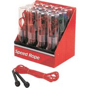 Ugrálókötél speedrope 2,8m, kék vagy piros színű műanyag kötéllel