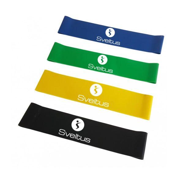 Miniband Dband latex szalag szett 4 db-os 10,13,18,22 kg ellenállású