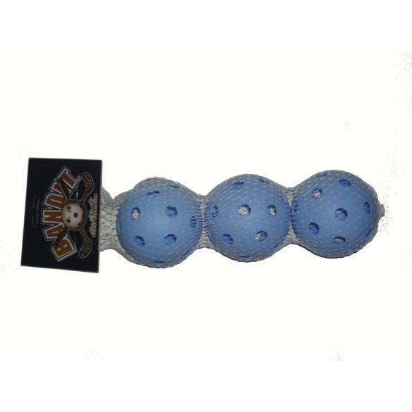 Floorball labda szett Bandit, 3 db-os szett kék szín, szabvány