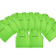 Jelzőtrikó szett neon zöld , 10 db , erős, strapabíró anyagból, méret (L) 73x60cm