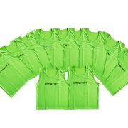 Jelzőtrikó szett neon zöld , 10 db , erős, strapabíró